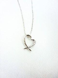 購入商品 K10WG ハートdiamondネックレス